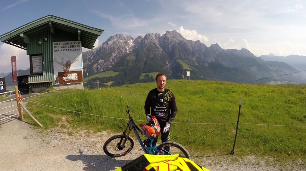 Video :: Claudio Caluori nos muestra el circuito en Leogang - World Cup DH #4