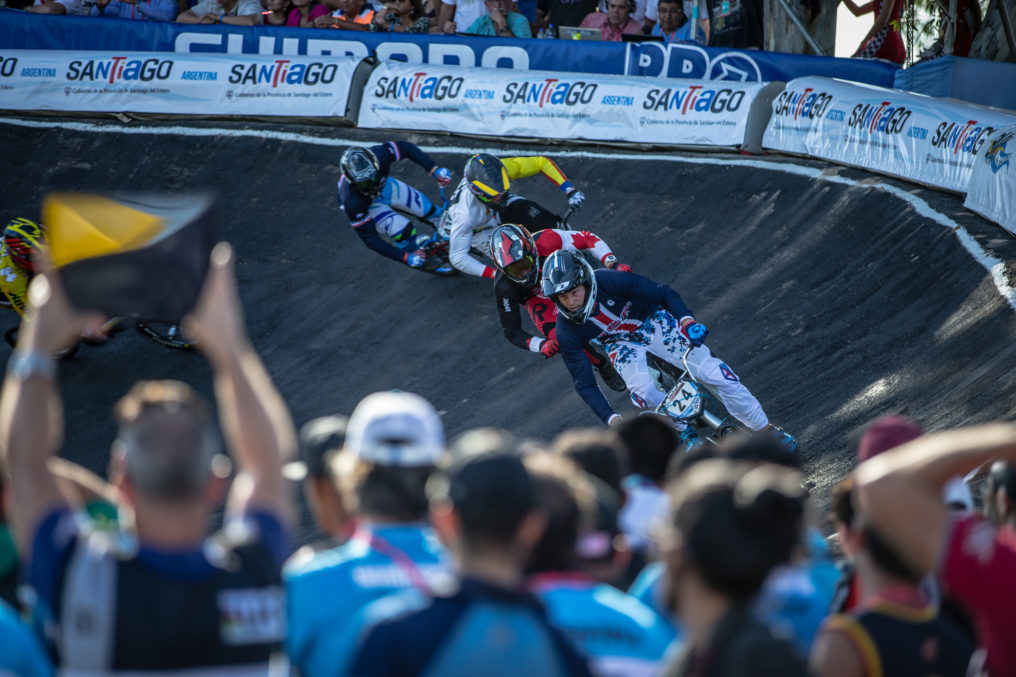 #24 (SHARRAH Corben) USA on his way to winning the 2016 UCI BMX Supercross World Cup in Santiago del Estero, Argentina